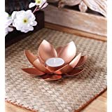 The Purple Tree Designer Lotus Shaped Tealight Holder - 1 Pc Tealight Candle Holder | Diwali Decor | Diwali Gift | Candle Holder