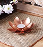 #8: The Purple Tree Designer Lotus Shaped Tealight Holder - 1 pc Tealight Candle Holder | Diwali Decor | Diwali Gift | Candle Holder