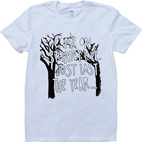Bon Iver Dünne Liebe Liedtext Weiß Benutzerdefinierten Gemacht T-Shirt Weiß
