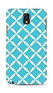 Amez designer printed 3d premium high quality back case cover for Samsung Galaxy Note 3 (blue white pattern)