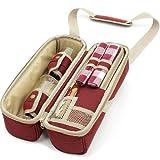 The Greenfield Collection WP003H Luxus Weinkühler für Zwei Personen in Mullberry Red - 2