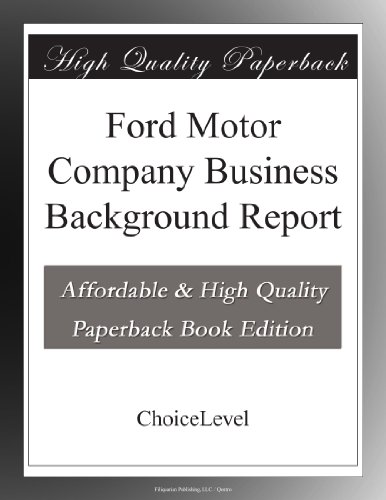 ford-motor-company-business-background-report