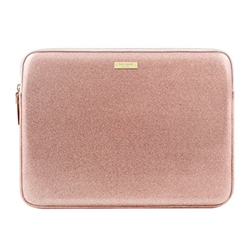 Kate Spade New York Sleeve für 33 cm MacBook, 33 cm Laptop - Rose Gold Glitzer