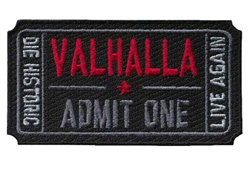 Titan One Europe Tactical Ticket to Valhalla Morale Military Vikings Mad MAX Patch Parche Táctico Motero