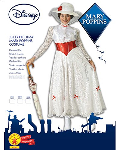 "Rubies costume ufficiale da Mary Poppins ""Jolly Holiday"", da donna, musical Disney"