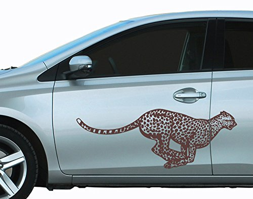 universumsum Autoaufkleber Gepard Schwarz Matt 140 x 52 cm uss166_a-140-070 Car-Tattoos Autotattoo Auto Tuning Car Styling Selbstklebend