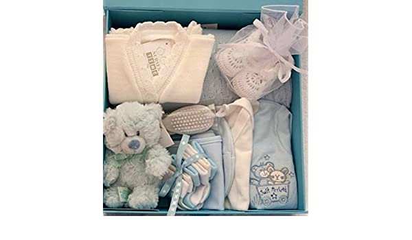 Taille 0 3/mois Neuf b/éb/é gar/çon Bo/îte cadeau de luxe Contient Babywear et accessoires.