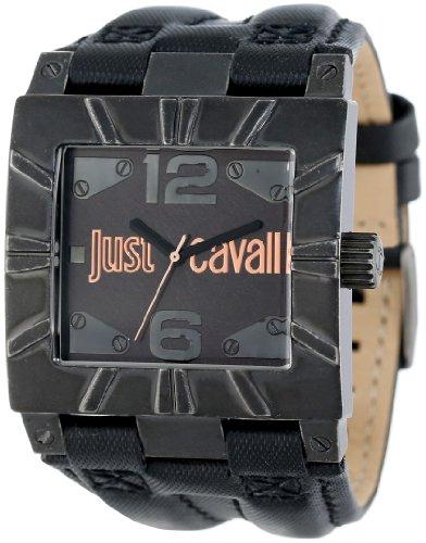 Just Cavalli R7251585501 - Reloj analógico de cuarzo para hombre, correa de tela color negro