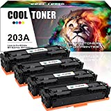 Cool Toner 4 Pack Kompatibel für HP 203A Toner 203X CF540X CF540A CF541A CF542A CF543A für HP Color Laserjet Pro MFP M281fdw M254dw MFP M280nw HP M281 M254 M280 M281fdn M281cdw