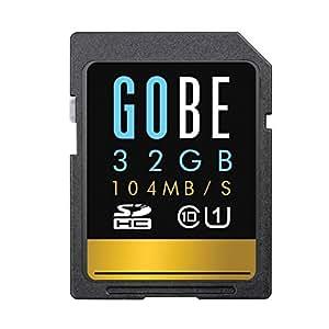 Gobe 32GB SDHC 104MB/s Lesen 70MB/s Schreiben UHS-1 Class 10 SD-Speicherkarte