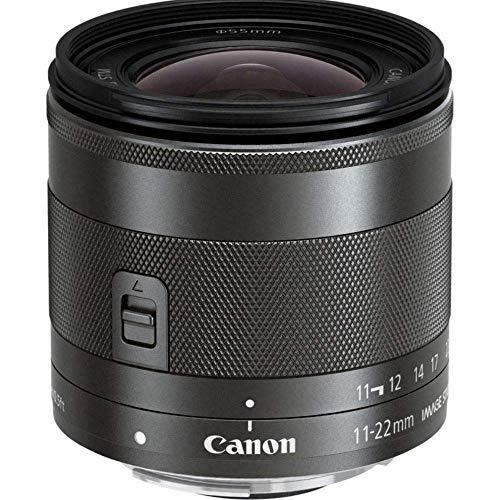 Canon Objektiv EF-M 11-22mm F4-5.6 IS STM Ultraweitwinkel Objektiv Lens für EOS M (55mm Filtergewinde, Bildstabilisator, Super Weitwinkel) schwarz
