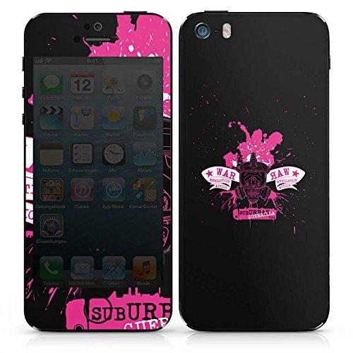 Apple iPhone 4s Case Skin Sticker aus Vinyl-Folie Aufkleber Schwarz Pink Sub Urban Guerilla DesignSkins® glänzend