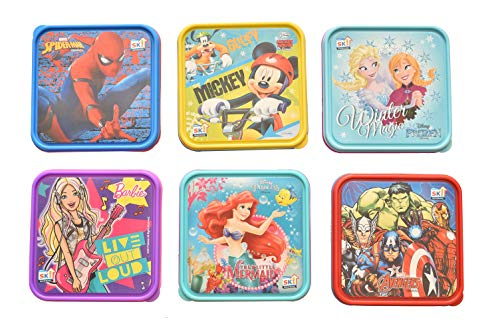Kids Trends Foodie Lunch Box,Return Gifts for Birthday Party for Kids (Pack of 6) Dimensions - 16Lx16Bx4H cms