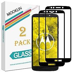 MOOKLIN [2 Stück] Motorola Moto G6 Play Panzerglas Displayschutzfolie,[Volle Abdeckung] [Easy Install Kit] [Anti-Kratzen] Vollständige Abdeckung Handy Schutzfolie für Motorola Moto G6 Play - Schwarz