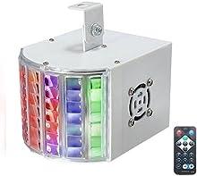 SOLMORE 6W conducido con modelos de control remoto Luces del escenario de colores RGB iluminacion de color Voz LED Iluminacion de la etapa mini disco AC90-240V 50-60hz