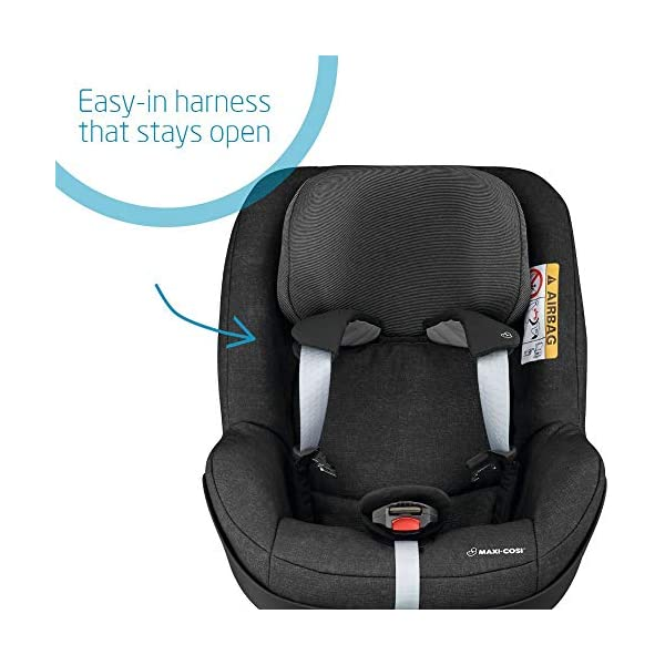 Maxi-Cosi Pearl One i-Size Toddler Car Seat Group 1, Rear-Facing Car Seat, ISOFIX, 67-105 cm, 6 Months-4 Years with One i-Size ISOFIX Base, Rearward-Facing Travel, 0 months - 4 years Maxi-Cosi Toddler car seat from 6 months to 4 years (approximately 67 cm - 105 cm) This rearward-facing car seat must be used with the Maxi-Cosi FamilyFix One i-Size ISOFIX base i-Size safety: Rearward-facing travel up to 105 cm for enhanced protection of head and neck 12
