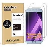 iVoler [2 Unidades] Protector de Pantalla Compatible con Samsung Galaxy A5 2017, Cristal Vidrio Templado Premium [9H Dureza] [Ultra Fina 0,3mm] [2.5D Round Edge]