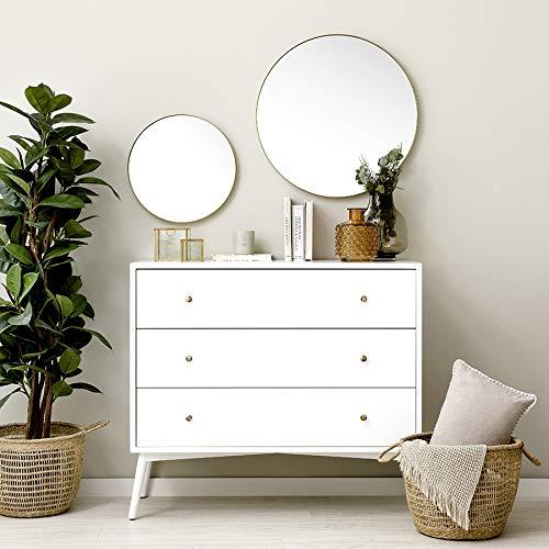 Kenay Home Egel Dorado Espejo Decorativo Pared, D.40