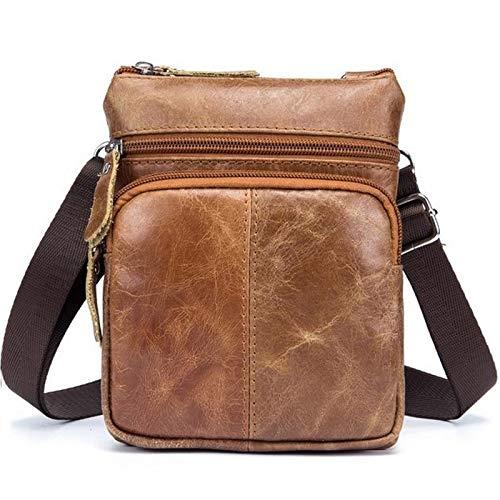 cdefdd15984ea xy Ultramoderne Männer Kleine Retro Leder Messenger Bag Handtasche  Aufbewahrungstasche Tasche Durable Multi-Tasche Gurt Casual Umhängetasche  Postbote Tasche ...
