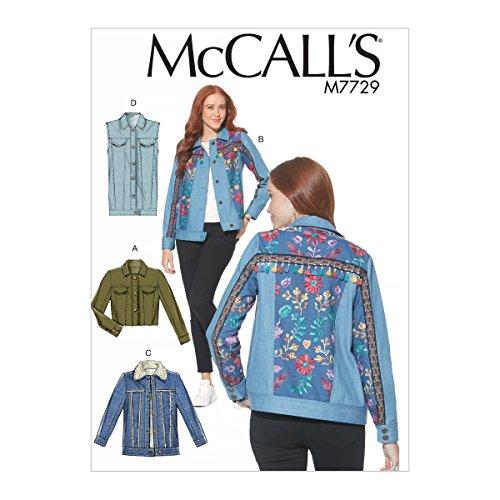 McCall 's Patterns Schnittmuster Jacken und Weste Schnittmuster, Tissue, mehrfarbig, 17x 0,5x 0,07cm (Sherpa Twill)