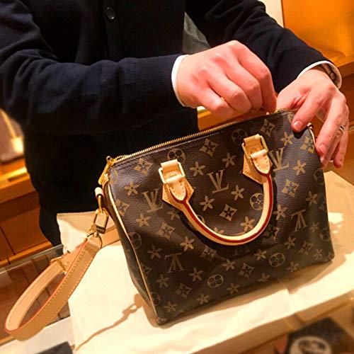 Mrs. Li's shop Europäische und amerikanische Mode Alten Blumendruck Schulter geschlungen Leder Leder Kissen Tasche Mini Boston kleine Dame Tasche, 30cm