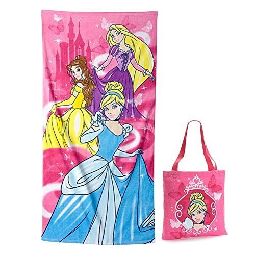 Disney Princess Cinderella Belle & Rapunzel Cotton Beach Towel & Tote Bag Set by Kohls - Bella Beach Bag