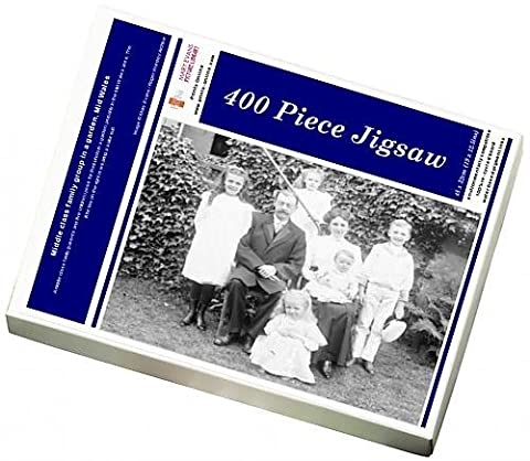 Photo Jigsaw Puzzle of Middle class family group in a garden, Mid Wales
