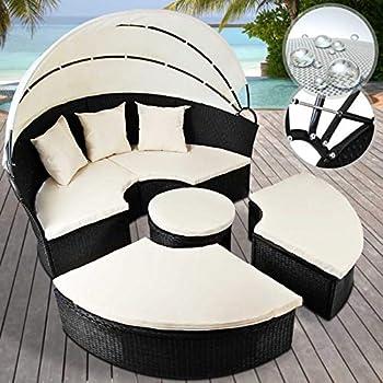 miadomodo lit canape de jardin modulable en resine