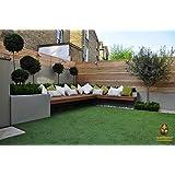 OrientalWeavers High Density Soft Natural Green Artificial Grass Carpet/Mat for Balcony, Lawn, Door Mat, Floor Mat, Etc.(Size 6.5 x 3 ft/200 x 90 cm)