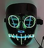 SOUTHSKY LED Máscara Black Face Eyes Discharge Máscara EL Wire Light Up...