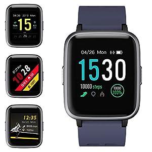 Smartwatch, Reloj Inteligente Impermeable IP68 Pulsera Actividad Hombre