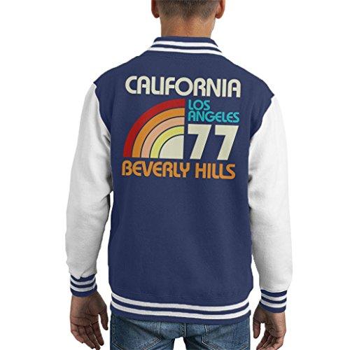 Coto7 California Los Angeles Beverly Hills Retro Kid's Varsity Jacket
