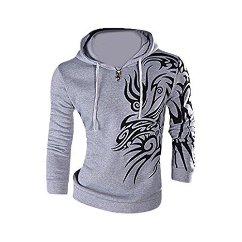 jeansian Herren Mode Jacke Oberbekleidung Tops Hoodie 8997 LightGray