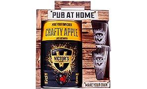 Victor's Drinks Crafty Apple Cider Pub At Home - Make Your Own Cider Gift Set