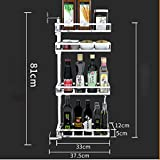 TTRR 304 Edelstahl Eck Racks können Gedreht Werden Kreative Gewürz Regal Wand hängenden Würze Sauce Lagerregale