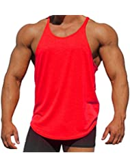 MEIHAOWEI Plain Bodybuilding Stringer Fitness T-shirts Sleeveless Chaleco Strap Tank Top