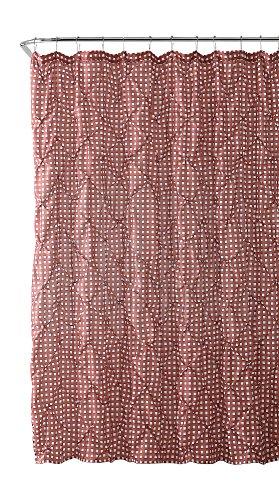 VCNY Home Stoff Vorhang für die Dusche: Farmhouse Gingham mit Biesenfalten Design Dusty Rose and White (Rose Vorhänge Dusty)