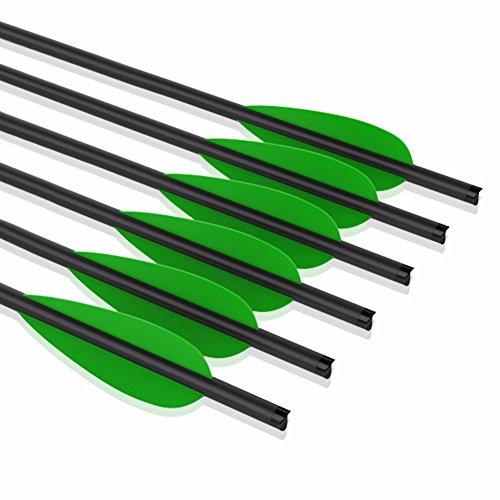 VERY100 12 stück Mix Carbonbolzen Armbrustbolzen Armbrust Pfeile Bolzen für 175 lbs Armbrust (16 Zoll Grün)