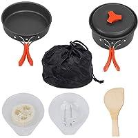 LIOOBO 8pcs Set di pentole di Campeggio allaperto Pad per Picnic allaperto Campeggio Escursionismo Backpacking