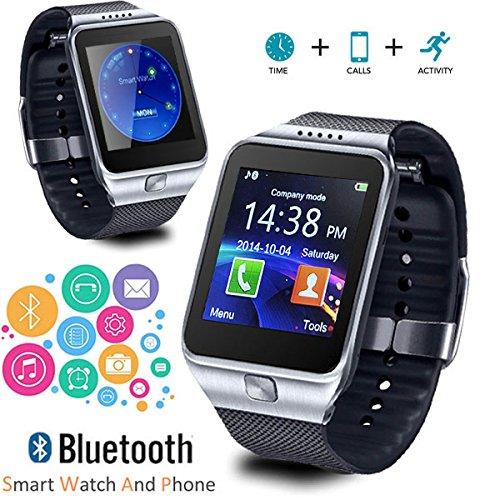 Indigi® 2017Neue GSM entsperrt Bluetooth-Uhr & Smartphone-[Call und SMS notifcation + Kamera]