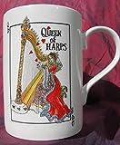 """Queen of Harps""- Bone China Mug"