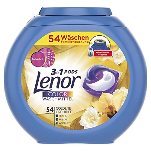 Lenor 3 in1 Pods Detergente Goldene orquídea