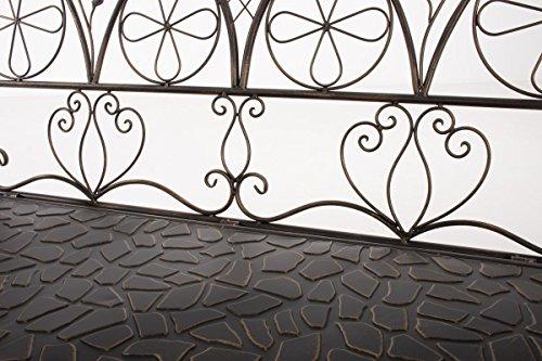 CLP Metall-Gartenbank RIEF, Landhausstil, lackiertes Eisen, ca. 110 x 50 cm, Design nostalgisch antik Bronze - 6