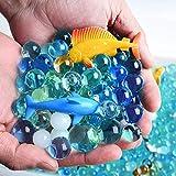 AINOLWAY 24PCS Mini Sea Animal Toys con Cuentas de Color oceánico para niños Juego de Juguetes de Agua y baño