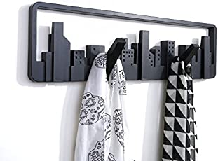 Sanket Enterprise European Creative Decoration Skyline Wall Hooks Hangers Coat Rack Scalable Coathook Wall Shelf Hook Wall-Mount Multi-Hook for Clothes/Coat/Key Rings/Scarf/Stoles
