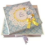 Baby Boy Scrapbook - Blue and Yellow