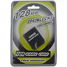 Link-e - Carte mémoire haute capacité 128mb (2043 blocks, mémoire non compressée) pour console Nintendo Gamecube