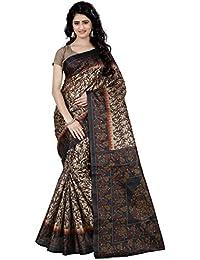 Being Banarasi Women's Raw Silk Printed Saree Without Blouse Piece