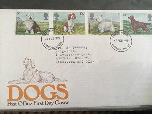 Verwendet Posted 1st Day Covers (1) (7 Februar 1979 Satz von 4 Hunde) (Set Coin Hund)