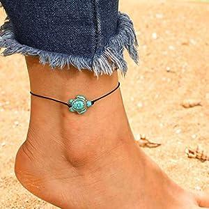 Damen Kette,Mode Einfache Tier Schildkröte Förmige Single Layer Rope Fußkettchen Halskette Kette Necklaces Halsketten Anhänger Geschenk Schmuck Jewelry Gliederkette Freundinnen Mütte Mädchen